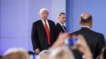 Andrzej Duda i Donald Trump podczas szczytu inicjatywy Trójmorza