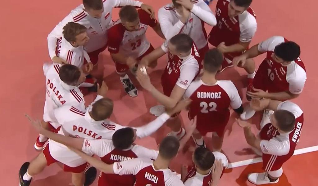 Radość siatkarzy reprezentacji Polski po pokonaniu Brazylii w Final Six