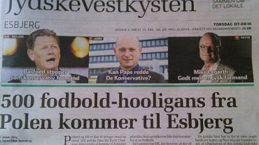 Czołówka czwartkowej duńskiej gazety