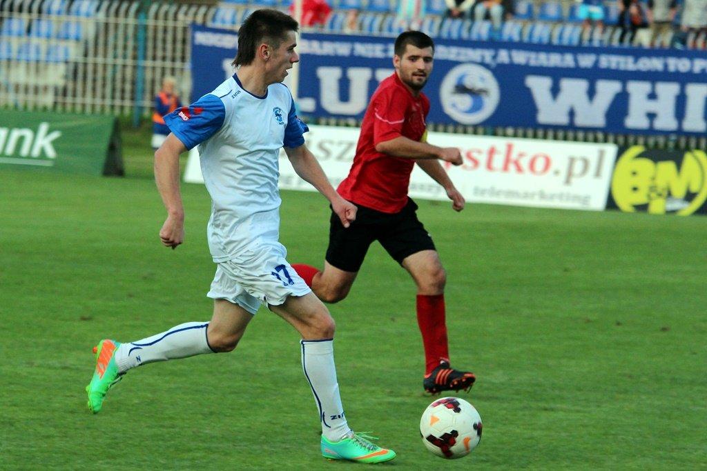 Trzecia liga: Stilon Gorzów - Ślęza Wrocław 0:1 (0:0). Z piłką Kordian Ziajka