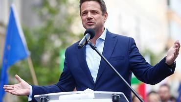 Rafal Trzaskowski w Lodzi