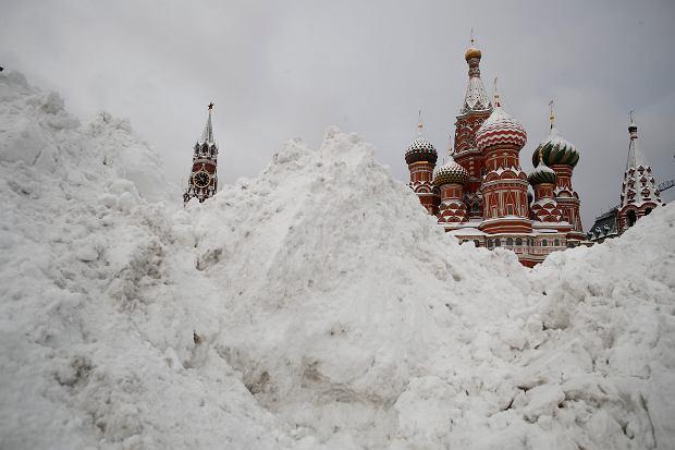 Moskwa. Zanotowano rekordowe opady śniegu