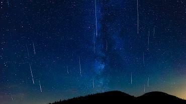 Noc spadajacych gwiazd - Perseidy nad Beskidem Żywieckim. hala Krupowa, 12 sierpnia 2016