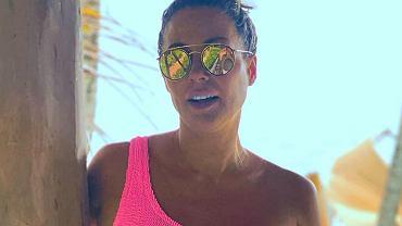 """Małgorzata Rozenek w różowym bikini. Talia lepsza niż u Kim Kardashian. Retusz? Nie ma mowy! """"Obłędna"""""""