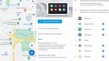 Ustawienia Google Android Auto