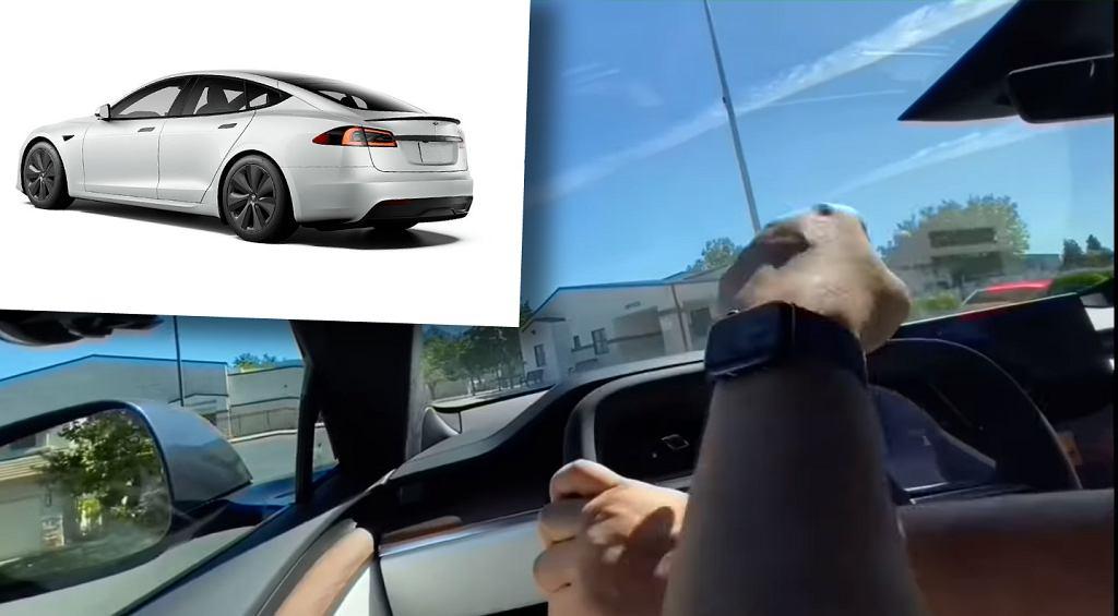 Tesla Model S Plaid i jej wolant