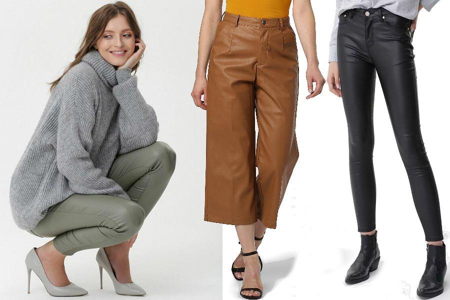 Skórzane spodnie damskie