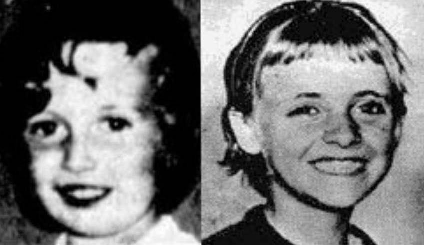 Zdjęcie zaginionej 4-letniej Kirste Gordon i 11-letniej Joanne Ratcliffe.