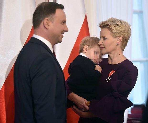 Andrzej Duda, Małgorzata Kożuchowska z synem