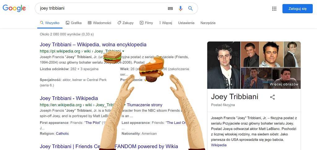 Google na 25-lecie serialu 'Przyjaciele'.