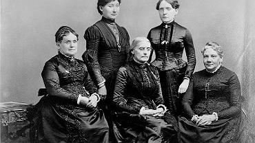 Susan B. Anthony, Frances Willard i pozostałe członkinie Międzynarodowej Rady Kobiet.