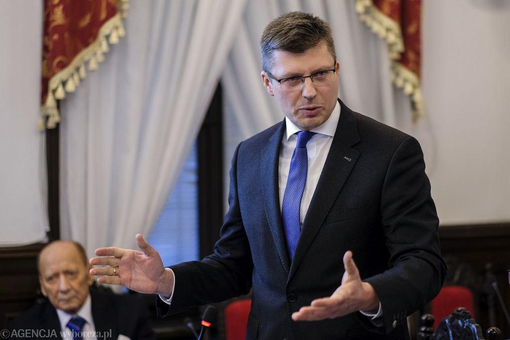 Wiceminister sprawiedliwości Marcin Warchoł, marzec 2020 r.