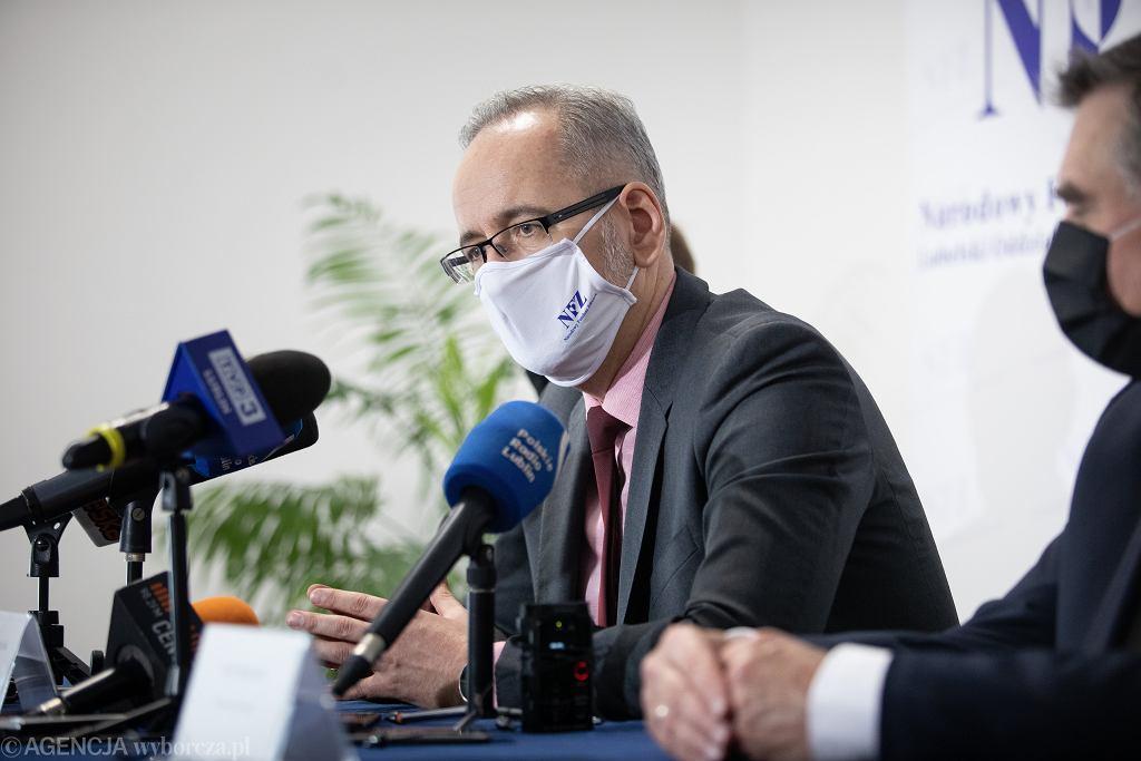 Minister zdrowia Adam Niedzielski wyjaśniał nową strategię w walce z koronawirusem