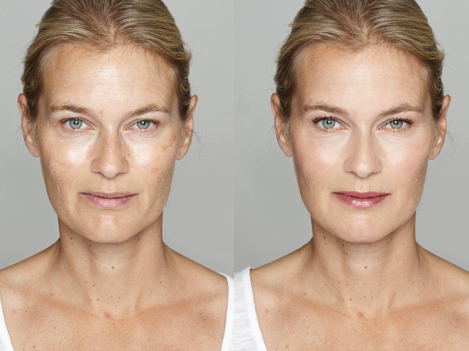 makijaż maskujący zmarszczki