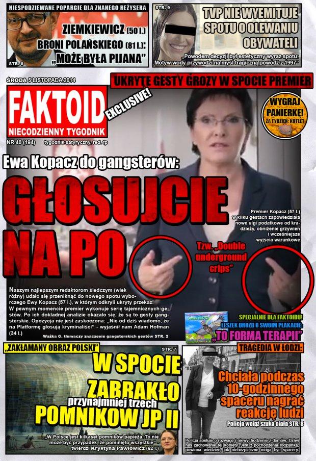 Faktoid, 5 listopada 2014, nr 40 (194) -  - Faktoid