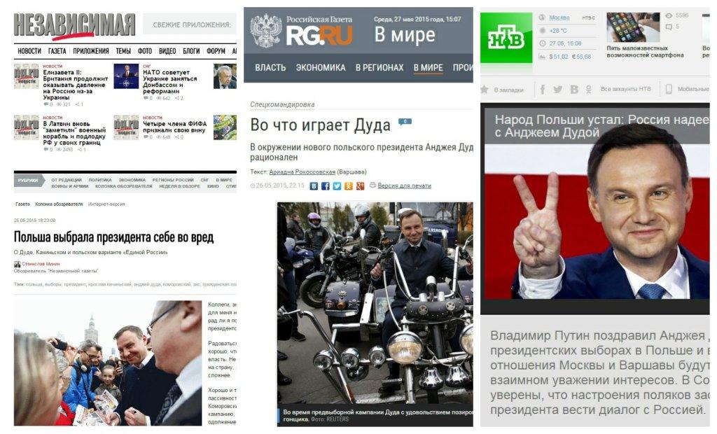 Rosyjskie gazety o Andrzeju Dudzie