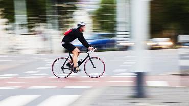 po mieście na rowerze