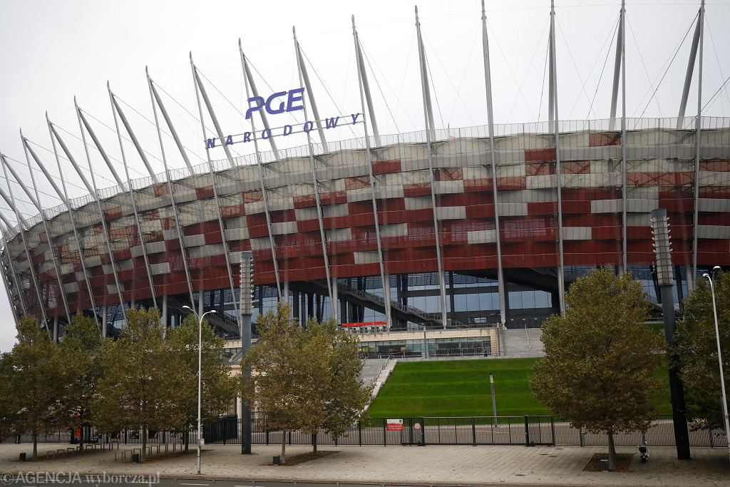 Budowa szpitala tymczasowego na Stadionie Narodowym w Warszawie