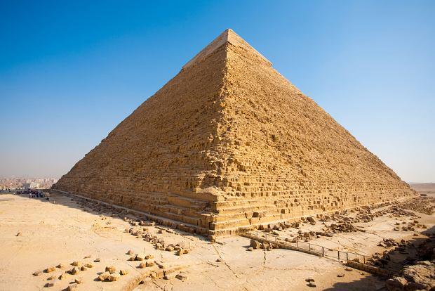 Egipt Giza - Sfinks, piramida Chefrena i Mykerinosa