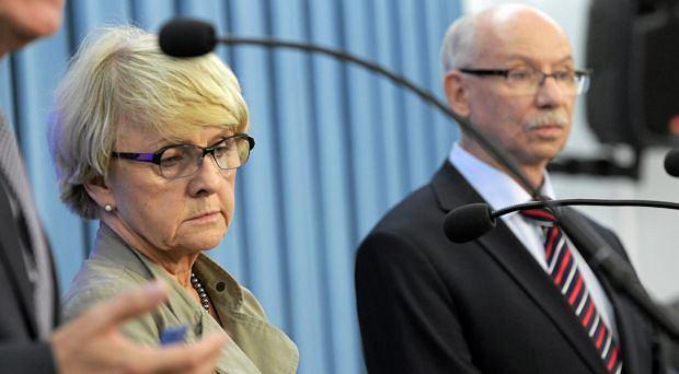 Europosłowie PO Danuta Hübner i Janusz Lewandowski