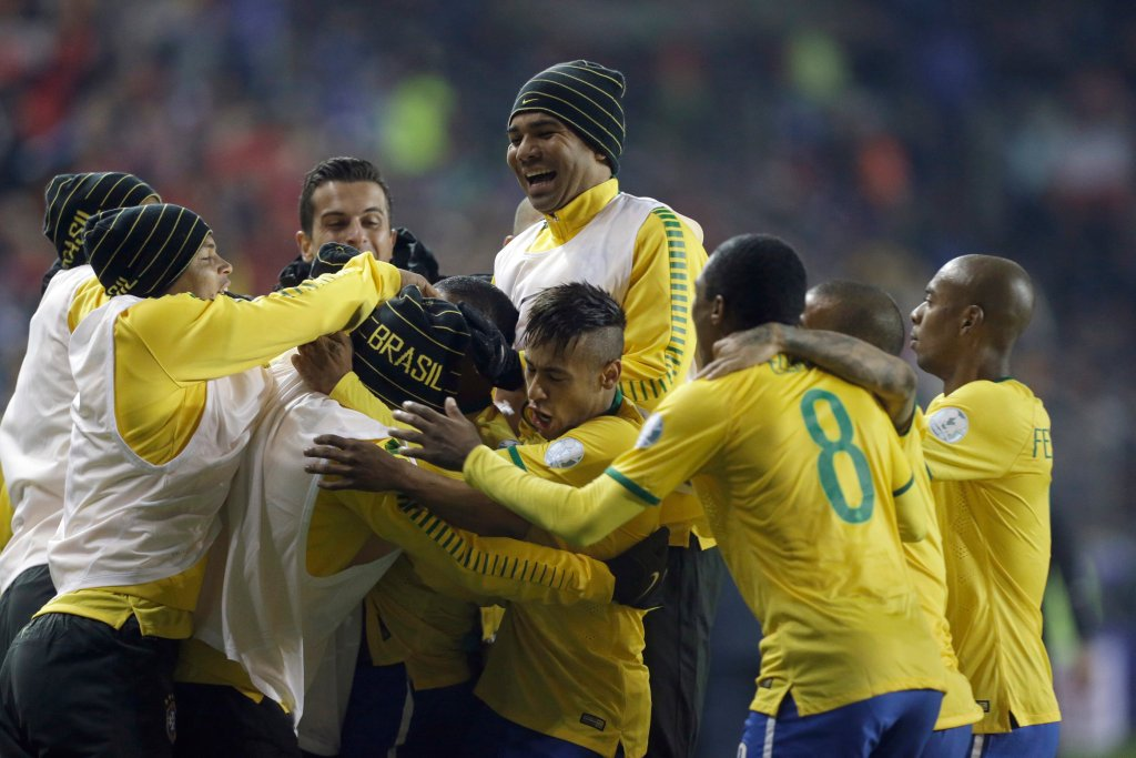 APTOPIX Chile Soccer Copa America Brazil Peru