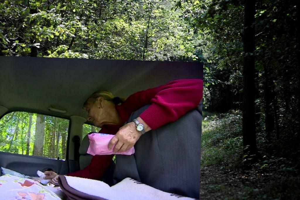 Pani Kołacz wraz z mężem i chorą corką mieszka w lesie - uciekli przed synem