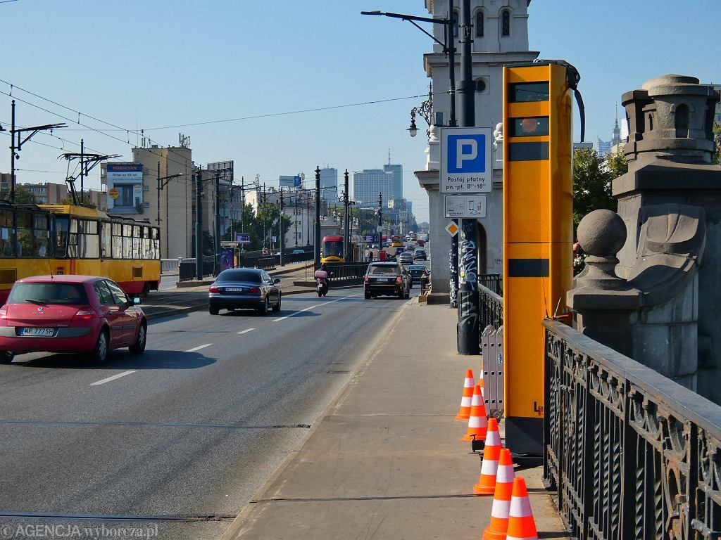 Most Poniatowskiego. Po pierwszych godzinach pracy fotoradarów odnotowano ponad 330 wykroczeń