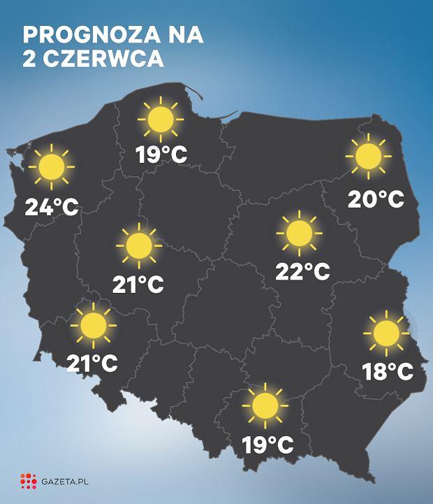 Prognoza pogody na 2 czerwca