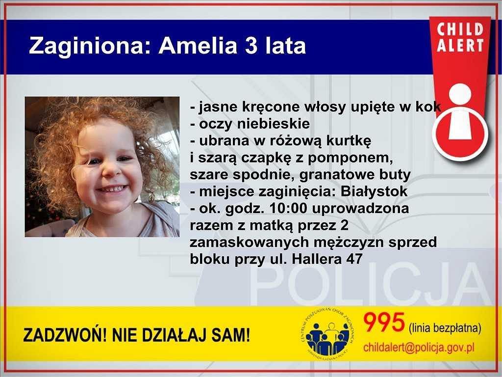 Porwana 3-letnia Amelka