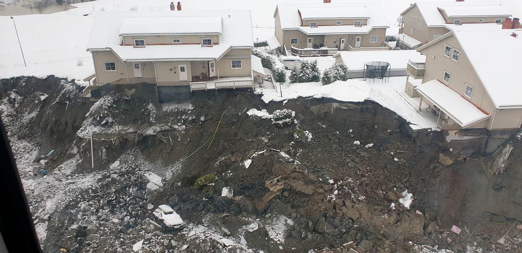 Osuwisko ziemi w Norwegii - akcja ratunkowa