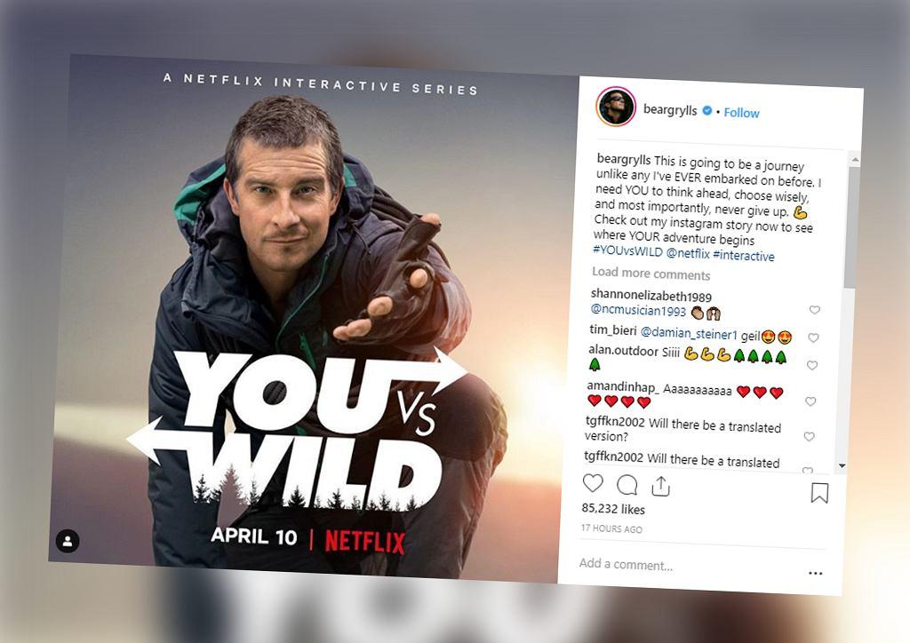 Kolejny interaktywny serial Netflixa. Podróżuj u boku Beara Gryllsa!