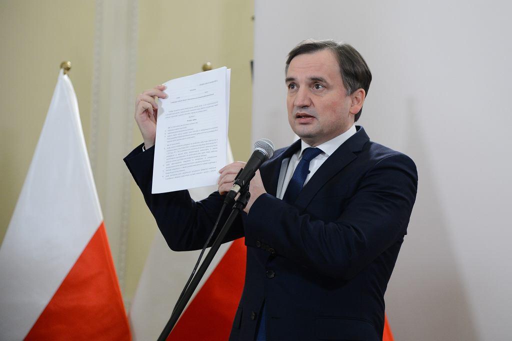 Konferencja ministra sprawiedliwości Zbigniewa Ziobry