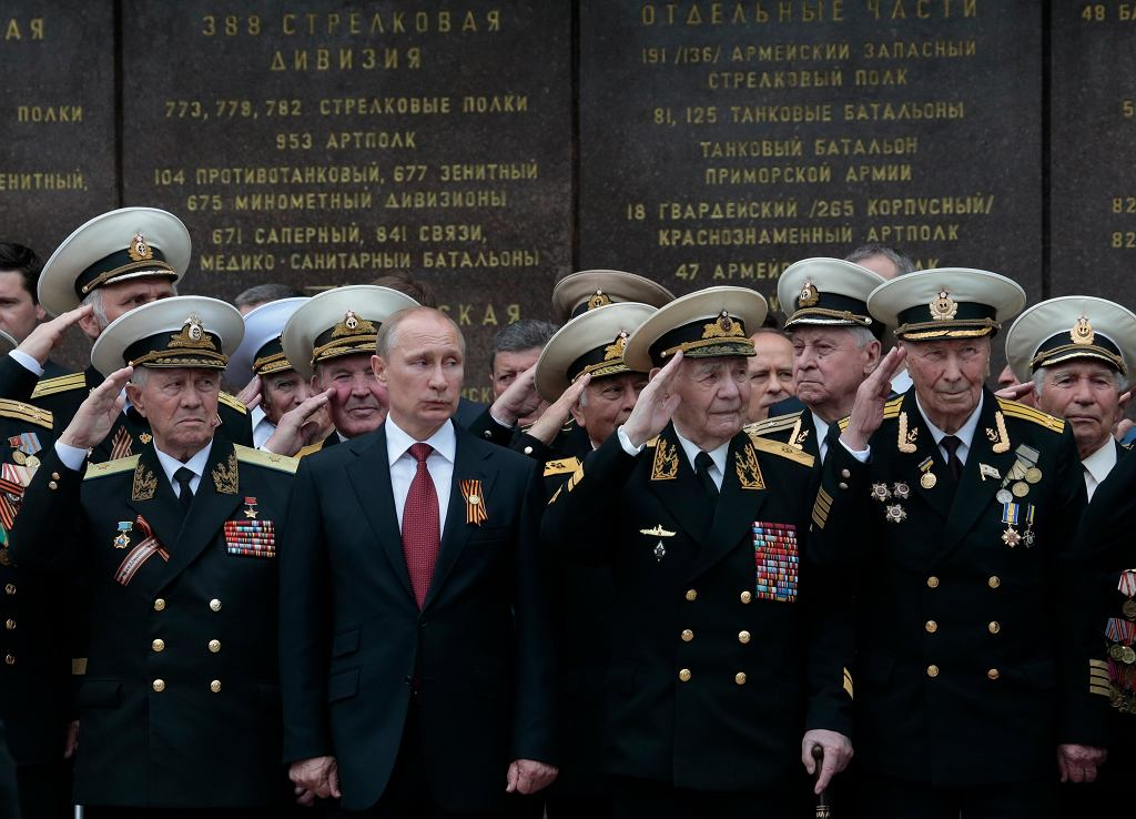 Prezydent Rosji Władimir Putin podczas obchodów Dnia Zwycięstwa w 2014 roku (zdjęcie ilustracyjne)