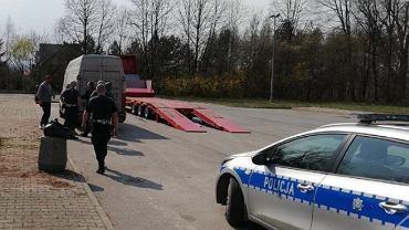 Kontrola pojazdu w miejscowości Parkosz