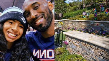 Tak wygląda miejsce spoczynku Kobego Bryanta i jego córki Gianny. Jest bardzo kolorowe, a wokół posadzono kwiaty