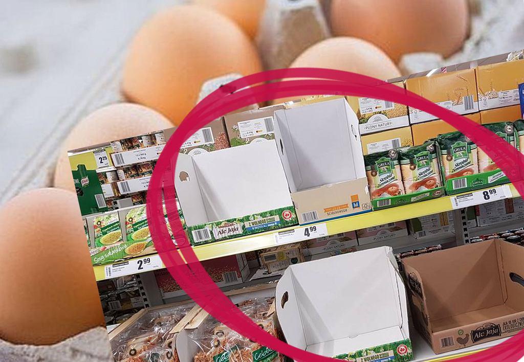 Problem z jajkami - brak ich w sklepach