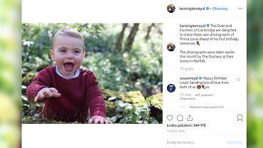 Książę Louis świętuje pierwsze urodziny. Zdjęcia, które opublikowano, zrobiła  księżna Kate