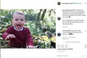 Książę Louis świętuje pierwsze urodziny. Z tej okazji opublikowano nowe zdjęcia