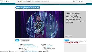 Jeden ze spektakli, który można zobaczyć na stronie Ninateka.pl (skan strony)
