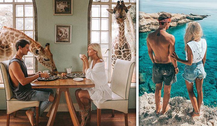 Ze swoich podróż przywożą niesamowite zdjęcia. To właśnie dzięki nim mogą podróżować.