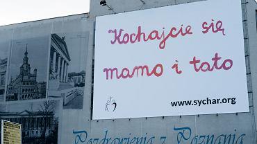 Billboard 'Kochajcie się mamo i tato' - Poznań