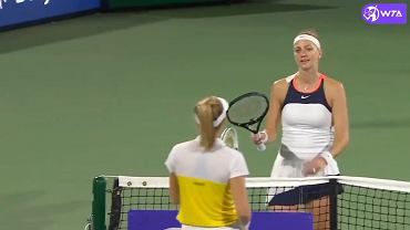 Petra Kvitova poddaje mecz w Dubaju