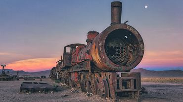 Cmentarzysko starych pociągów w Boliwii