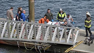 Alaska. Zderzenie dwóch hydroplanów