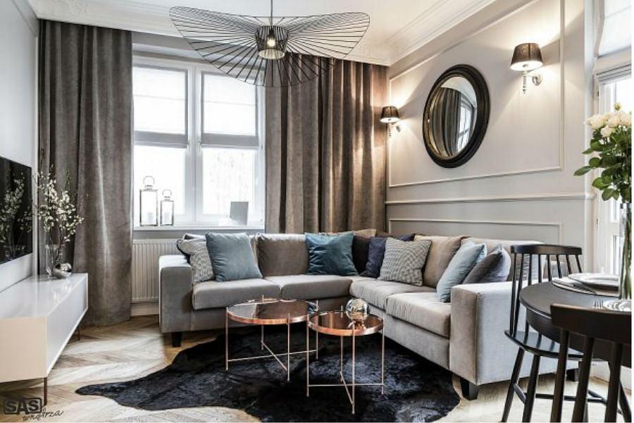 Małe mieszkanie w przedwojennej kamienicy - salon