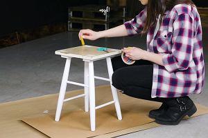 Stary mebel w nowej odsłonie, czyli szybka i spektakularna metamorfoza zniszczonego stołka