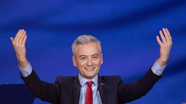 Robert Biedroń podczas konwencji programowej Wiosny
