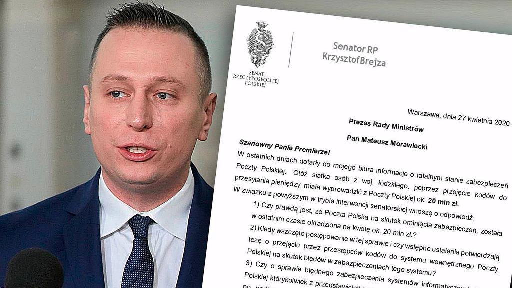 Senator Krzysztof Brejza pyta premiera o incydent związany z wyłudzeniem pieniędzy