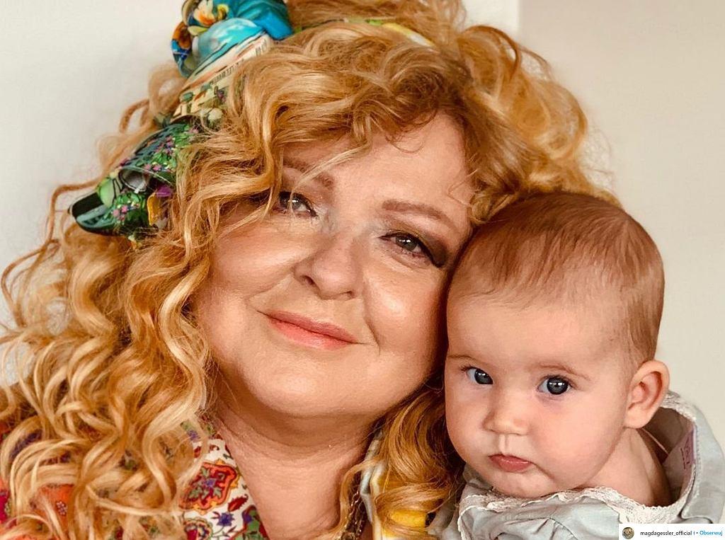 Magda Gessler z wnuczką Neną