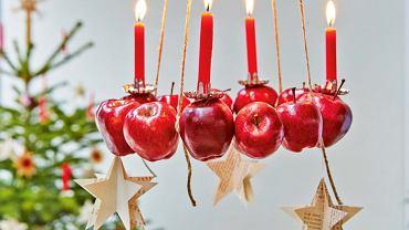 Lampion z jabłek
